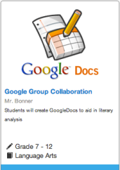 Students will create GoogleDocs to aid in literary analysis