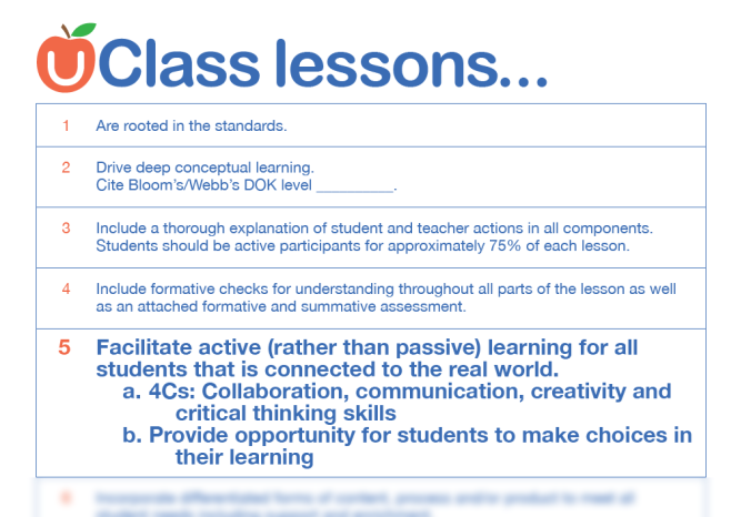 Facilitate active learning...