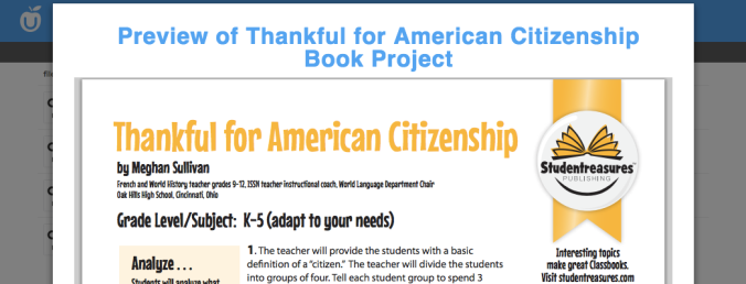 Thankful for American Citizenship Book Project