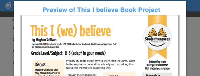 This I Believe Book Project