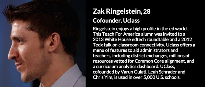 2015 30 Under 30: Education