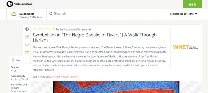 Symbolism in The Negro Speaks of Rivers
