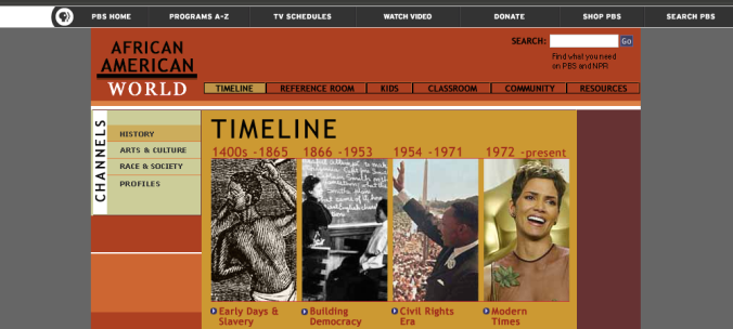 African American World: Timeline, PBS